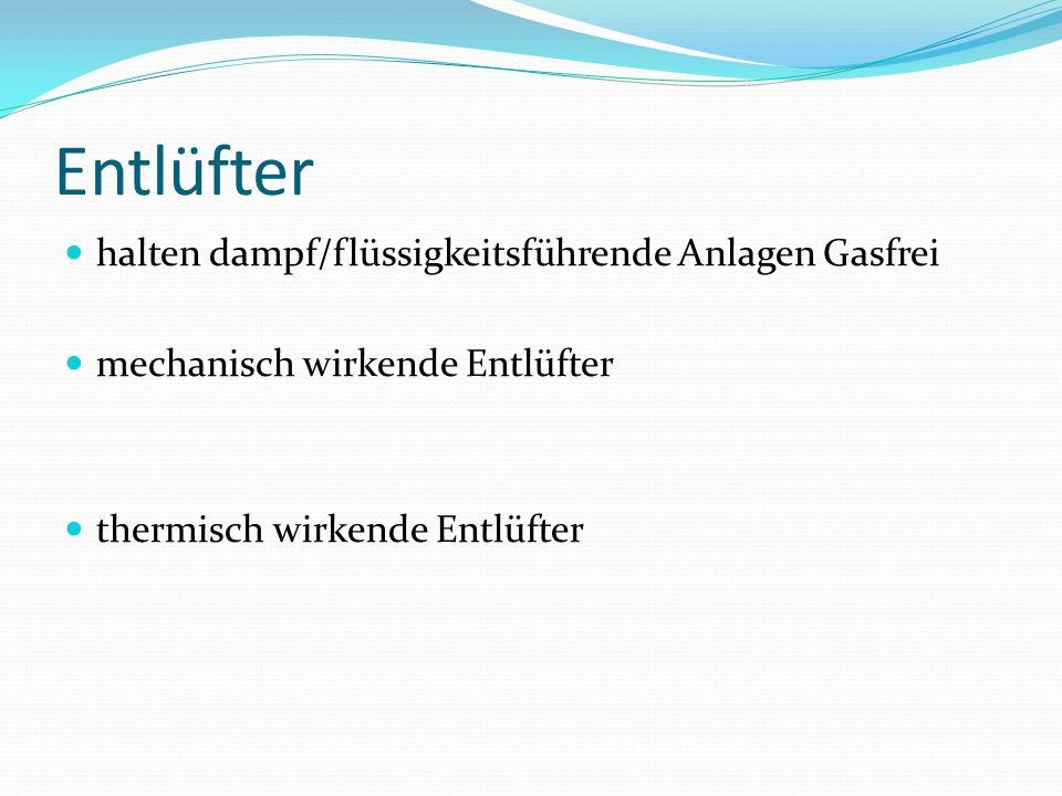 Entlüfter halten dampf/flüssigkeitsführende Anlagen Gasfrei