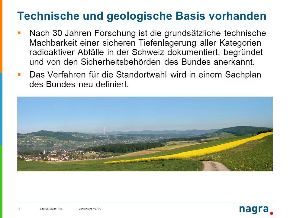Technische und geologische Basis vorhanden