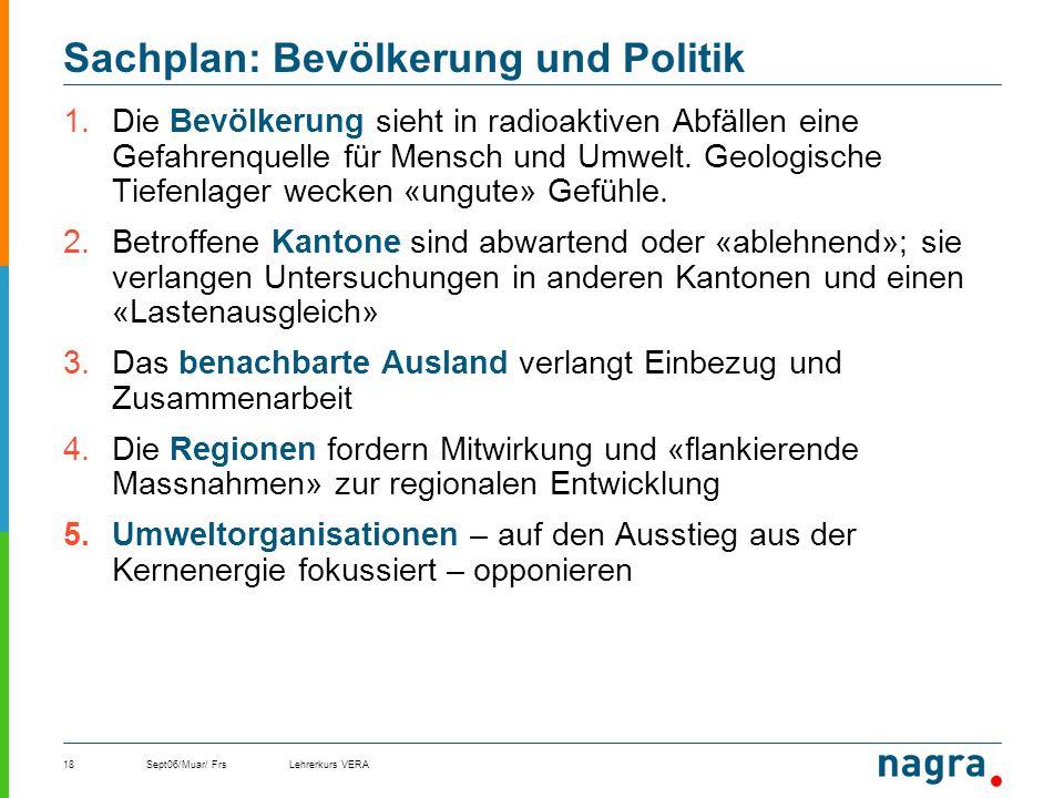 Sachplan: Bevölkerung und Politik