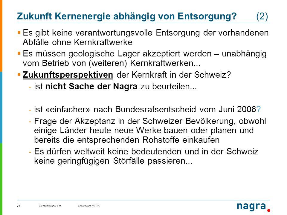Zukunft Kernenergie abhängig von Entsorgung (2)