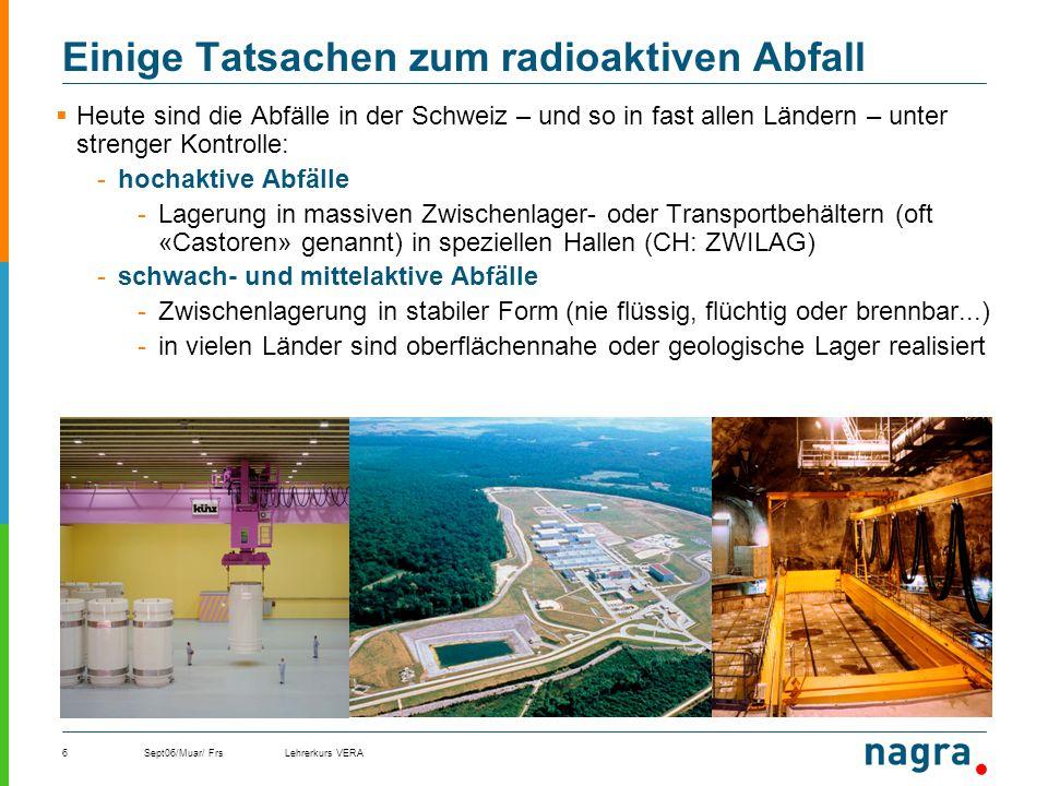 Einige Tatsachen zum radioaktiven Abfall