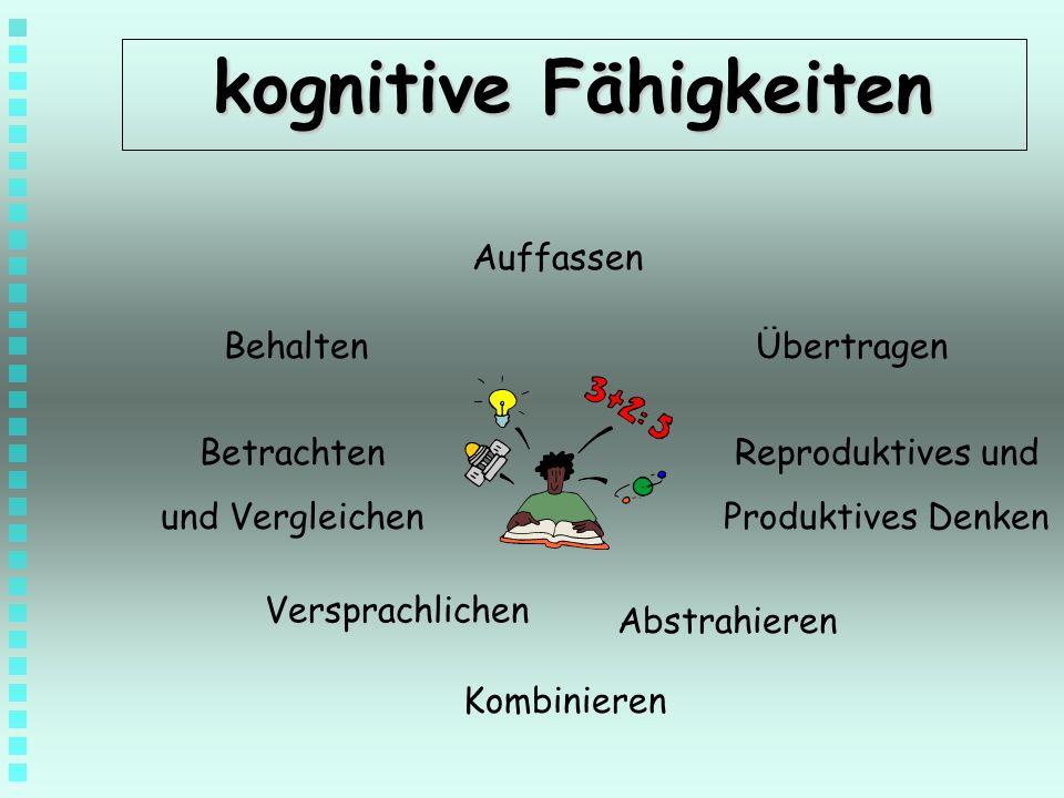 kognitive Fähigkeiten