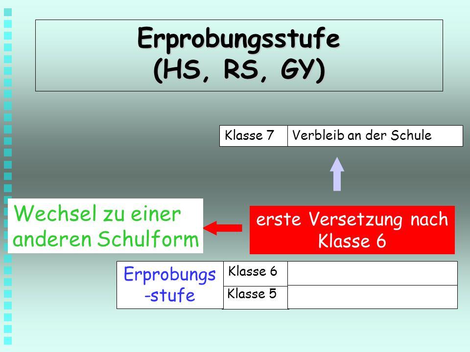 Erprobungsstufe (HS, RS, GY)