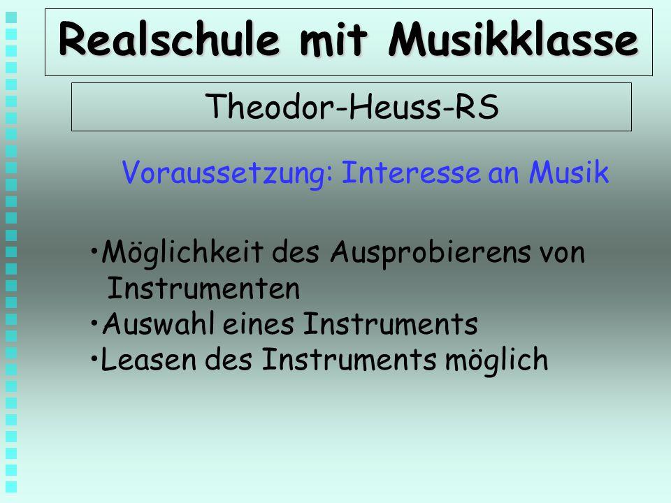Realschule mit Musikklasse