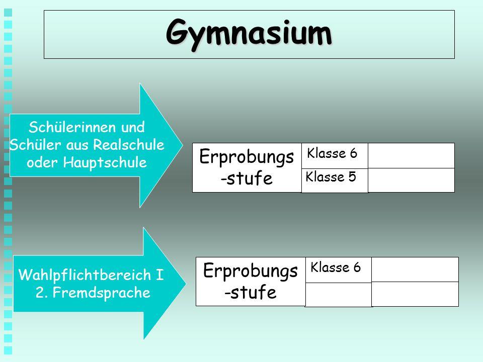 Gymnasium Erprobungs-stufe Erprobungs-stufe