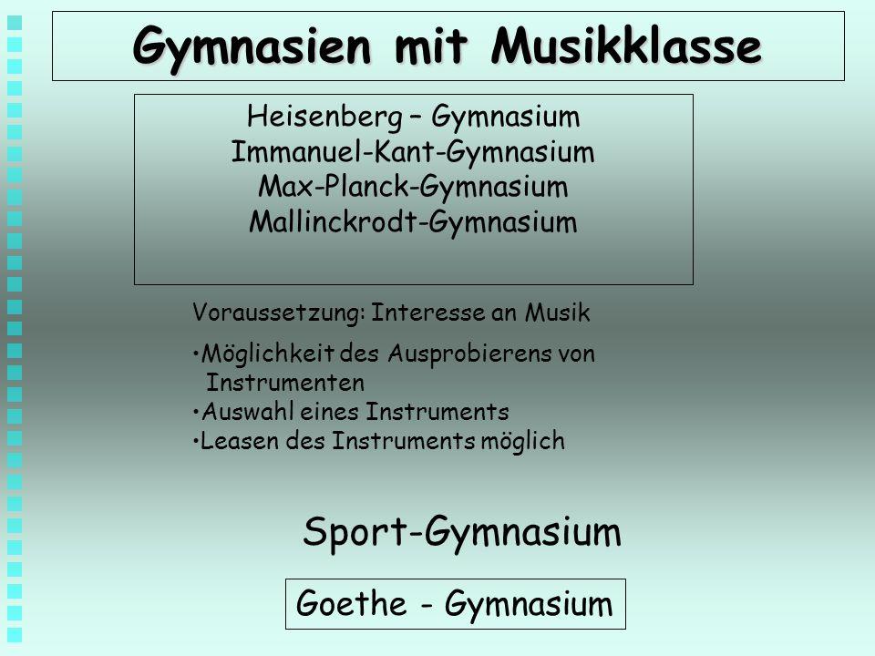 Gymnasien mit Musikklasse