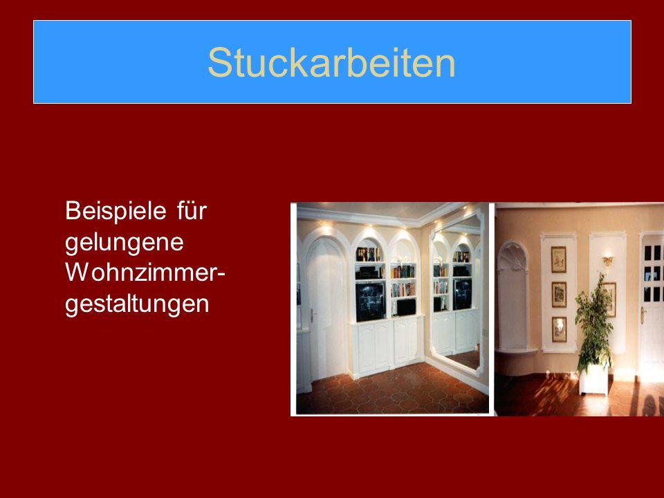Stuckarbeiten Beispiele für gelungene Wohnzimmer-gestaltungen