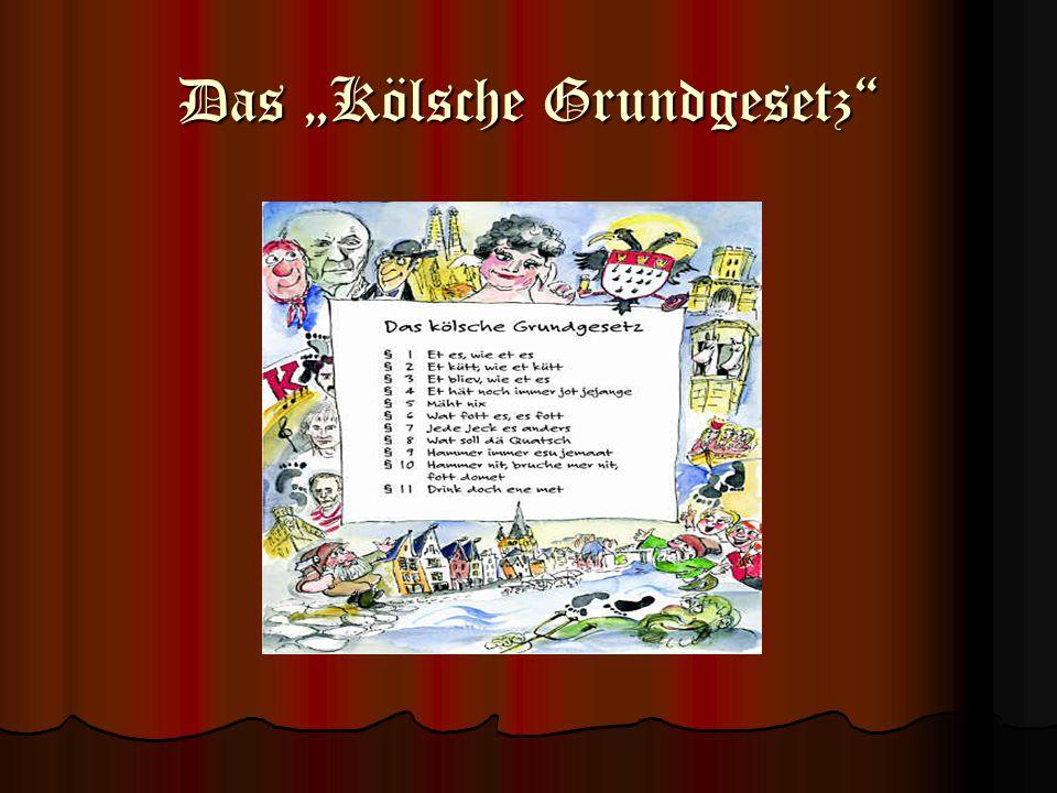 """Das """"Kölsche Grundgesetz"""