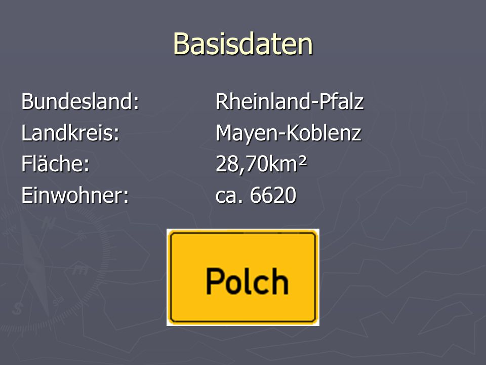 Basisdaten Bundesland: Rheinland-Pfalz Landkreis: Mayen-Koblenz
