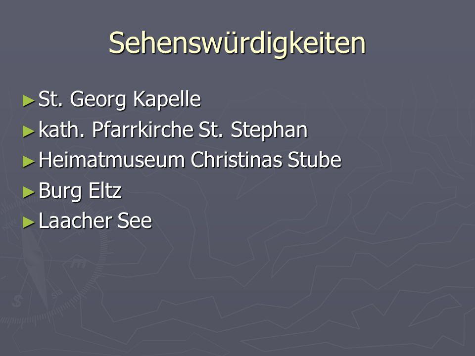 Sehenswürdigkeiten St. Georg Kapelle kath. Pfarrkirche St. Stephan