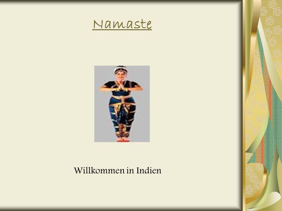 Namaste Willkommen in Indien