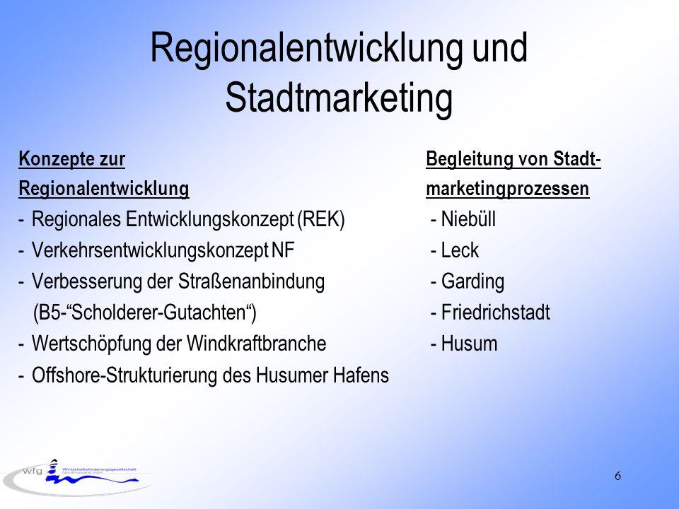 Regionalentwicklung und Stadtmarketing