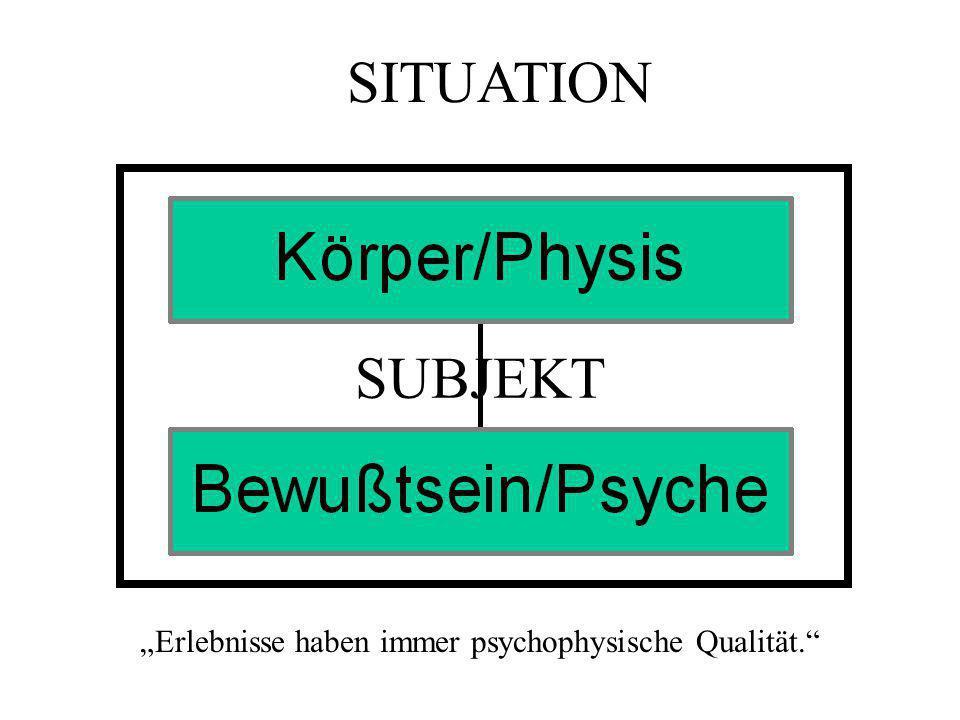"""""""Erlebnisse haben immer psychophysische Qualität."""