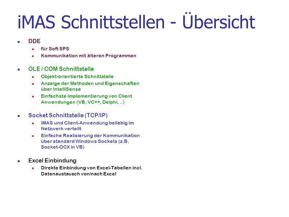 iMAS Schnittstellen - Übersicht