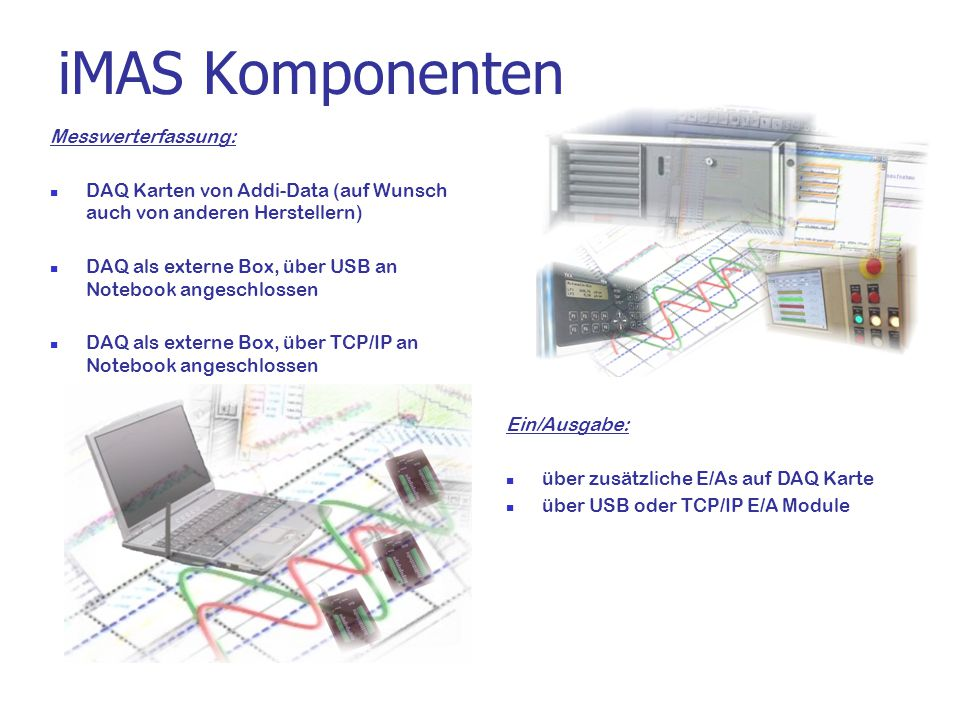 iMAS Komponenten Messwerterfassung: