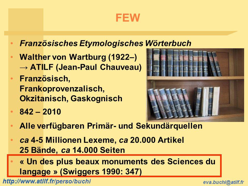 FEW Französisches Etymologisches Wörterbuch