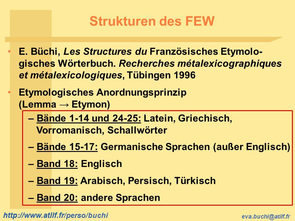 Strukturen des FEW