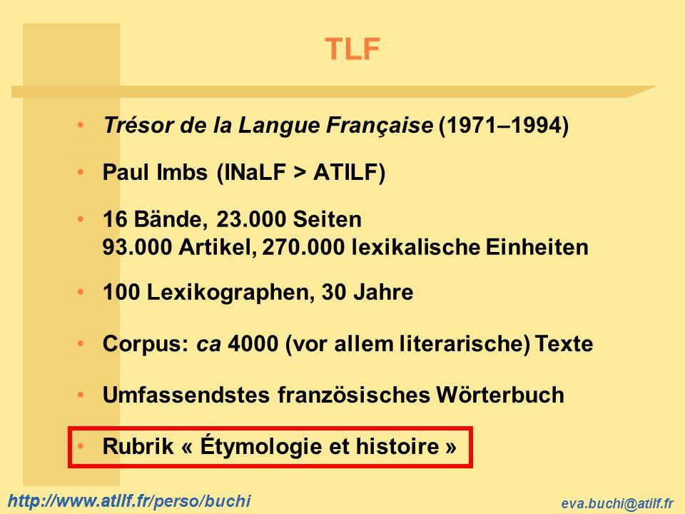 TLF Trésor de la Langue Française (1971–1994)