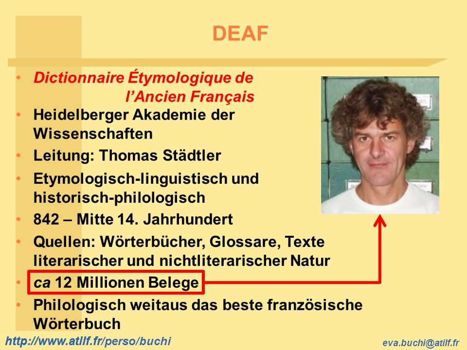 DEAF Dictionnaire Étymologique de l'Ancien Français