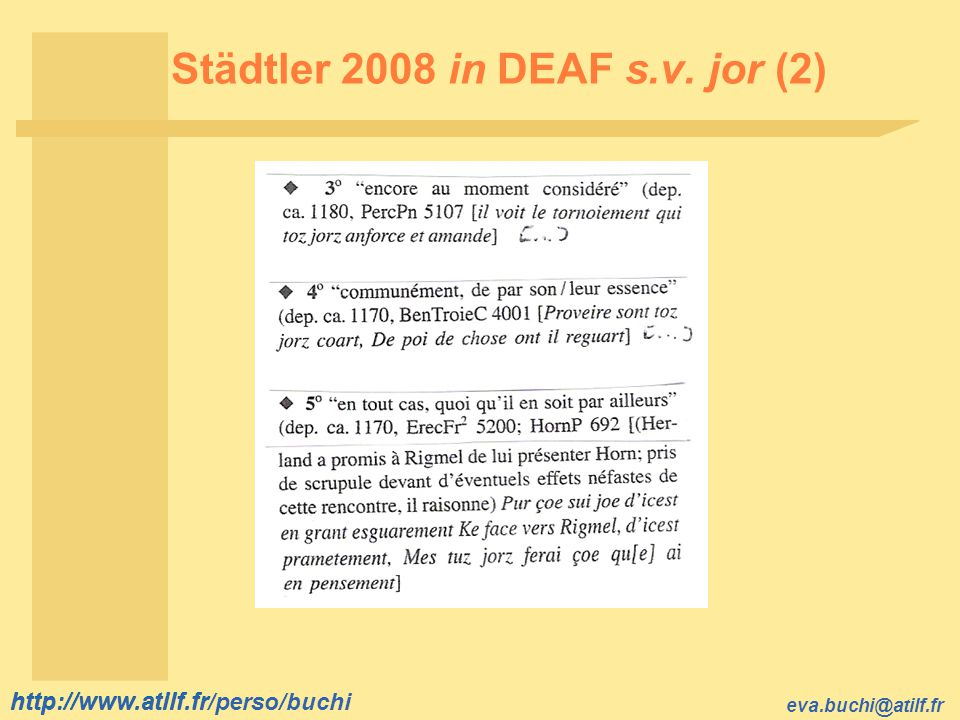 Städtler 2008 in DEAF s.v. jor (2)