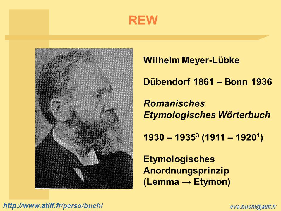 REW Wilhelm Meyer-Lübke Dübendorf 1861 – Bonn 1936