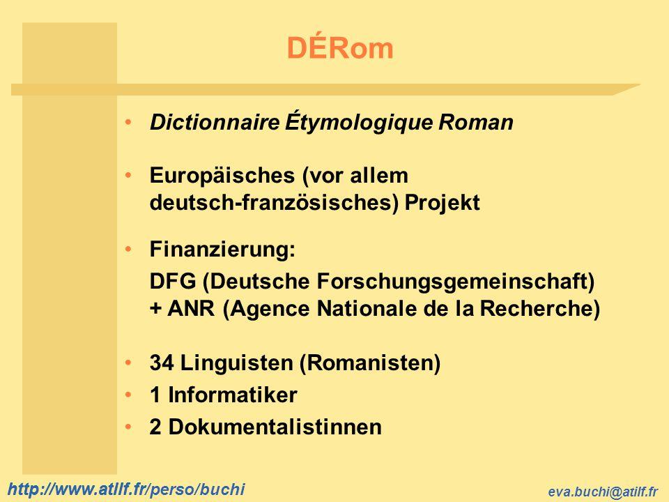 DÉRom Dictionnaire Étymologique Roman Europäisches (vor allem