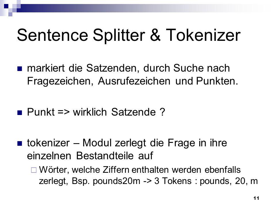 Sentence Splitter & Tokenizer
