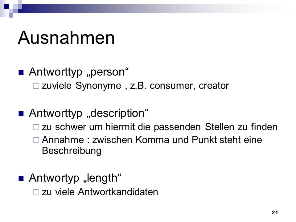 "Ausnahmen Antworttyp ""person Antworttyp ""description"