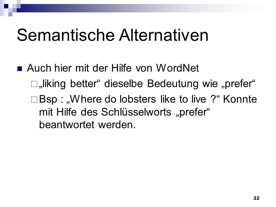 Semantische Alternativen