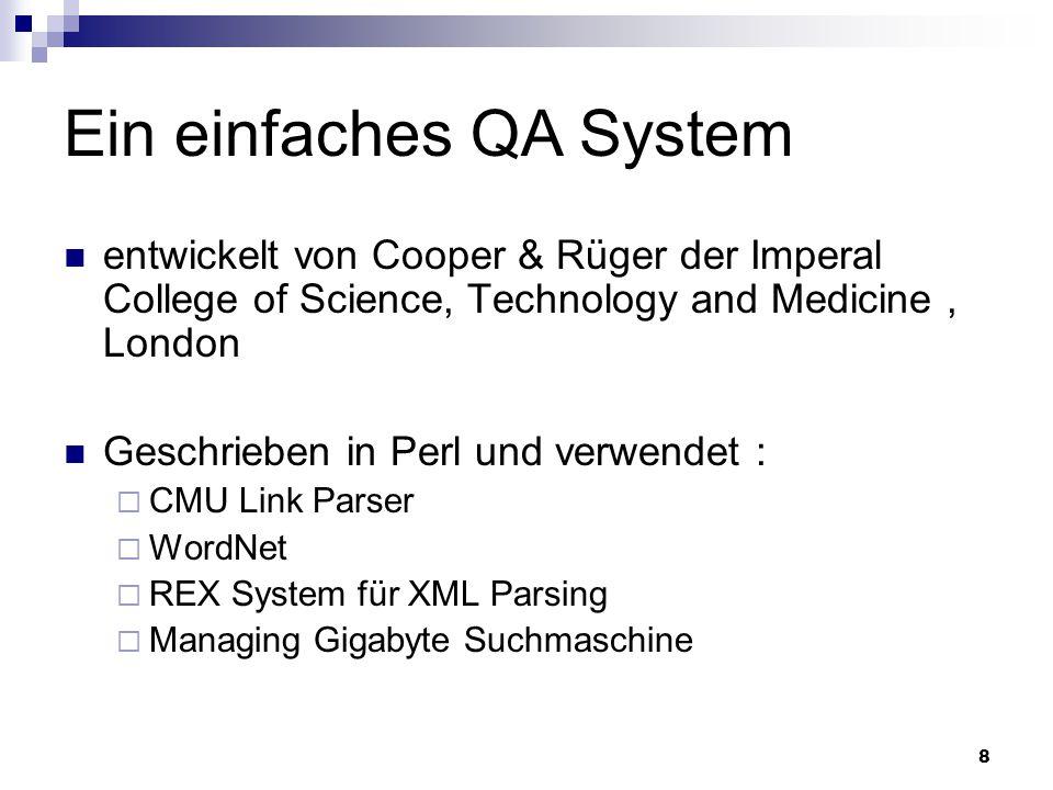 Ein einfaches QA System