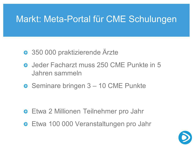 Markt: Meta-Portal für CME Schulungen