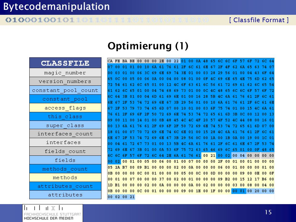 Optimierung (1) [ Classfile Format ]