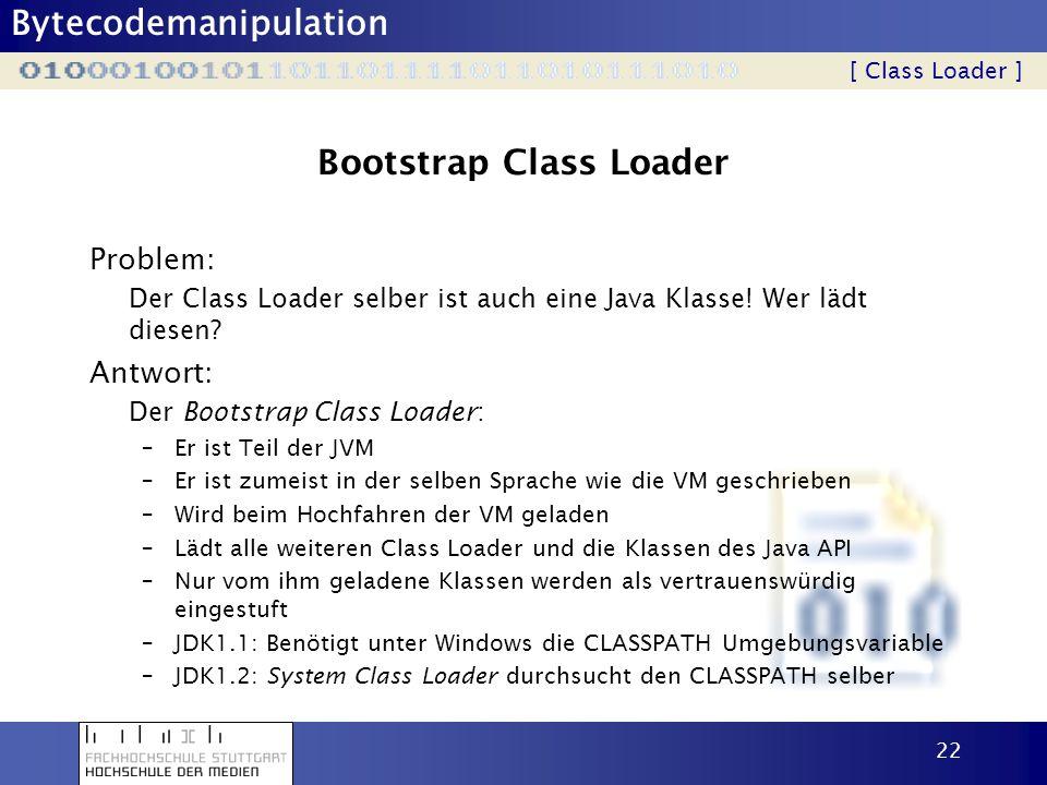 Bootstrap Class Loader