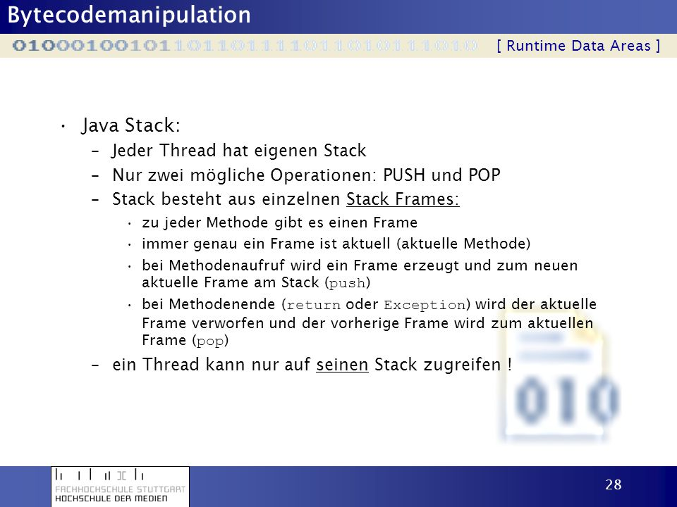 Java Stack: Jeder Thread hat eigenen Stack