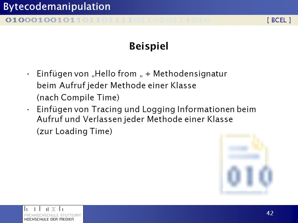 """Beispiel Einfügen von """"Hello from """" + Methodensignatur"""