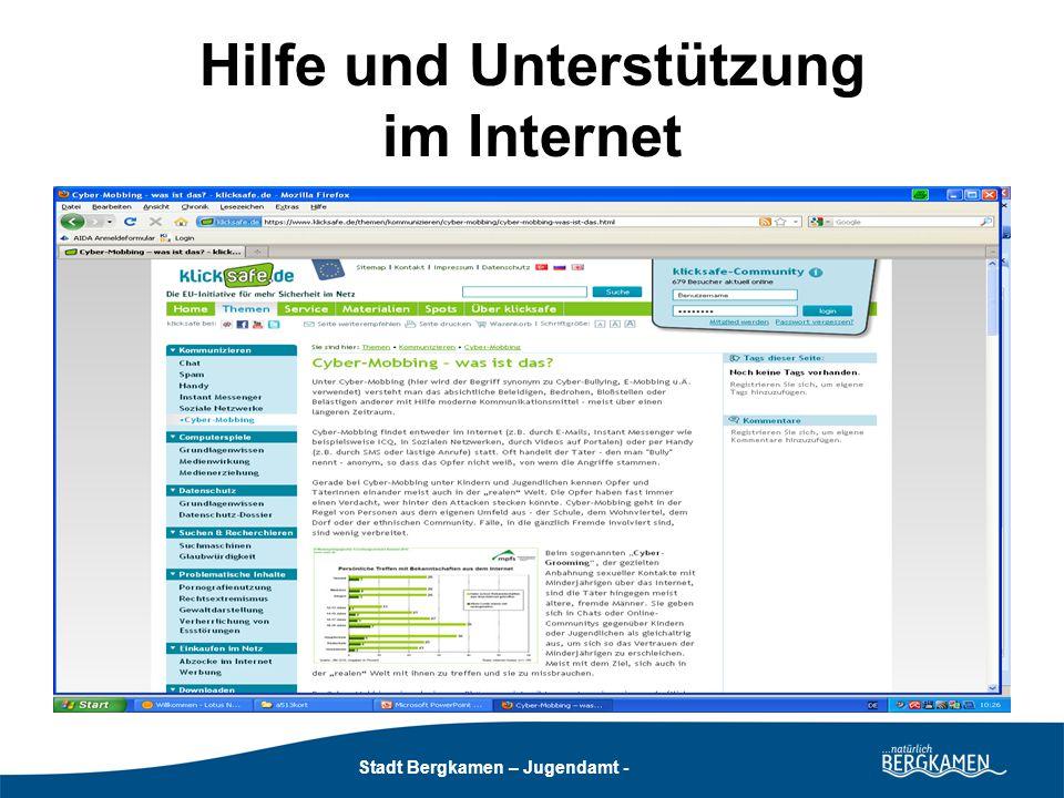Hilfe und Unterstützung im Internet