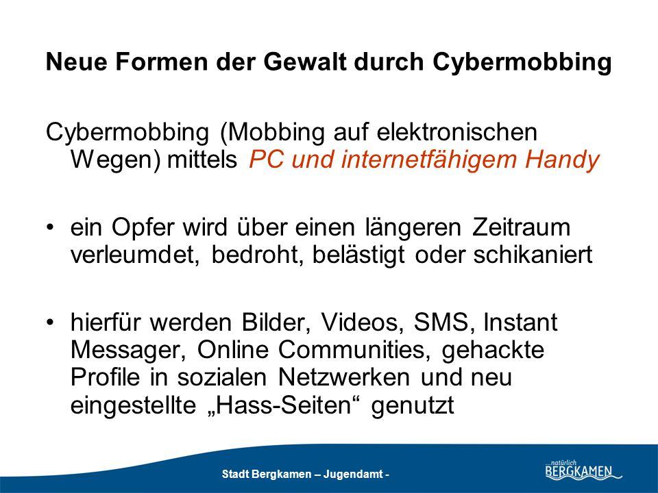 Neue Formen der Gewalt durch Cybermobbing
