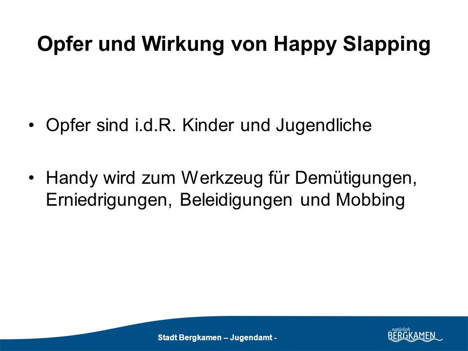 Opfer und Wirkung von Happy Slapping