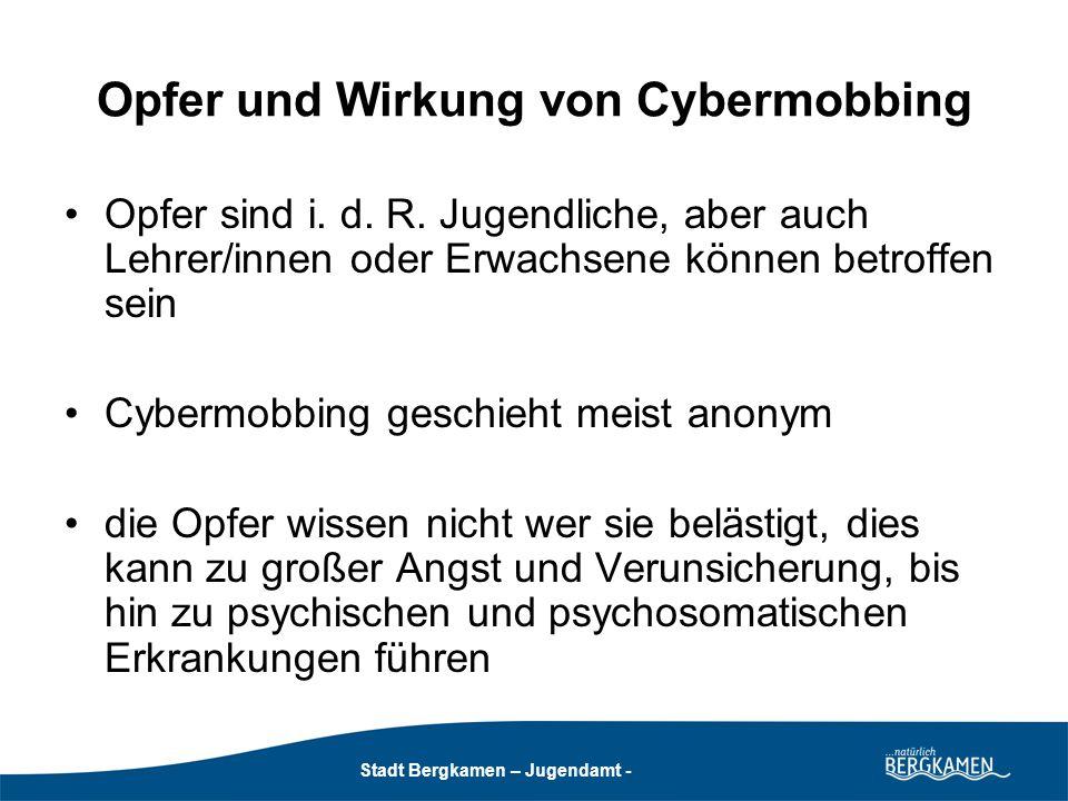 Opfer und Wirkung von Cybermobbing