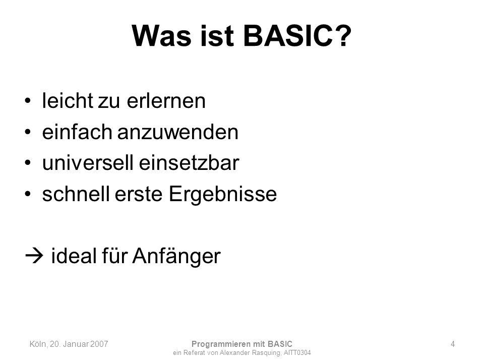 Programmieren mit BASIC