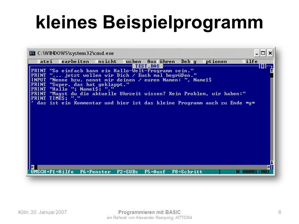 kleines Beispielprogramm