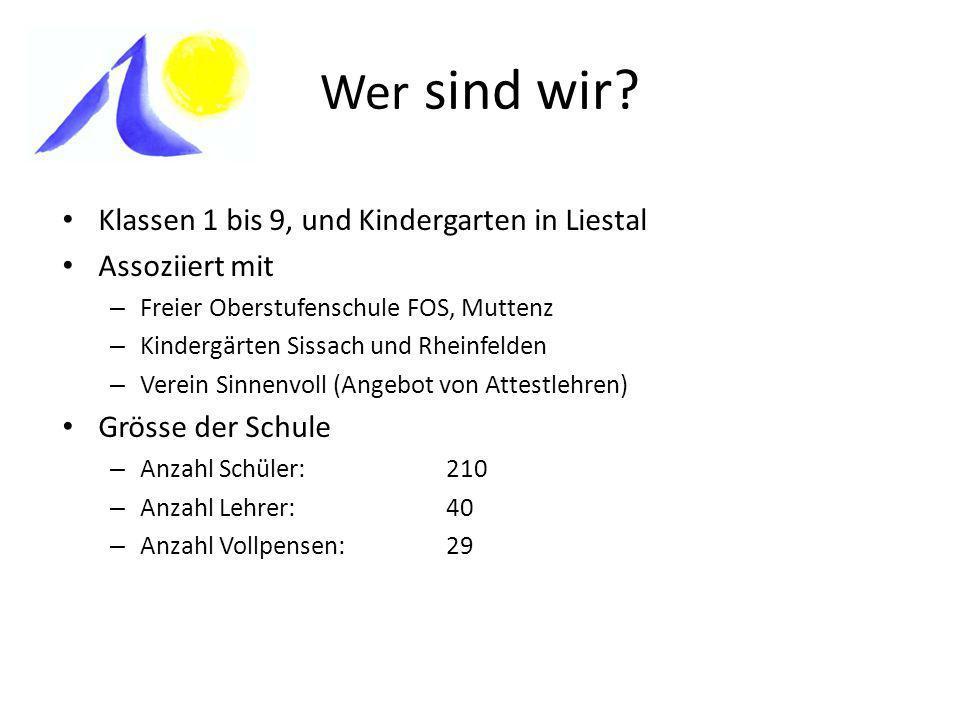 Wer sind wir Klassen 1 bis 9, und Kindergarten in Liestal