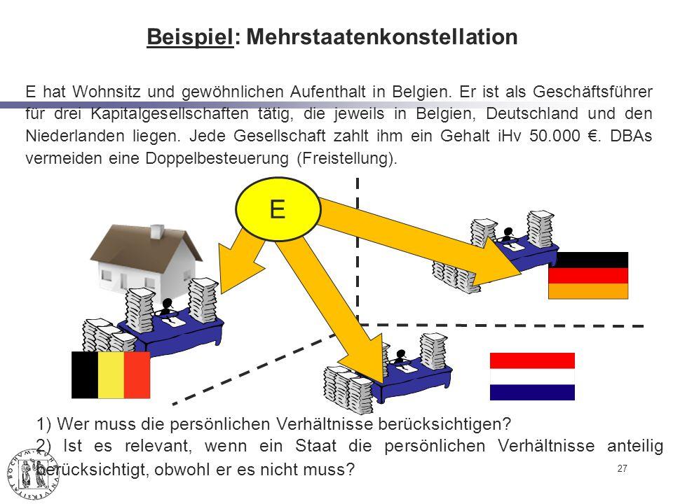 Beispiel: Mehrstaatenkonstellation