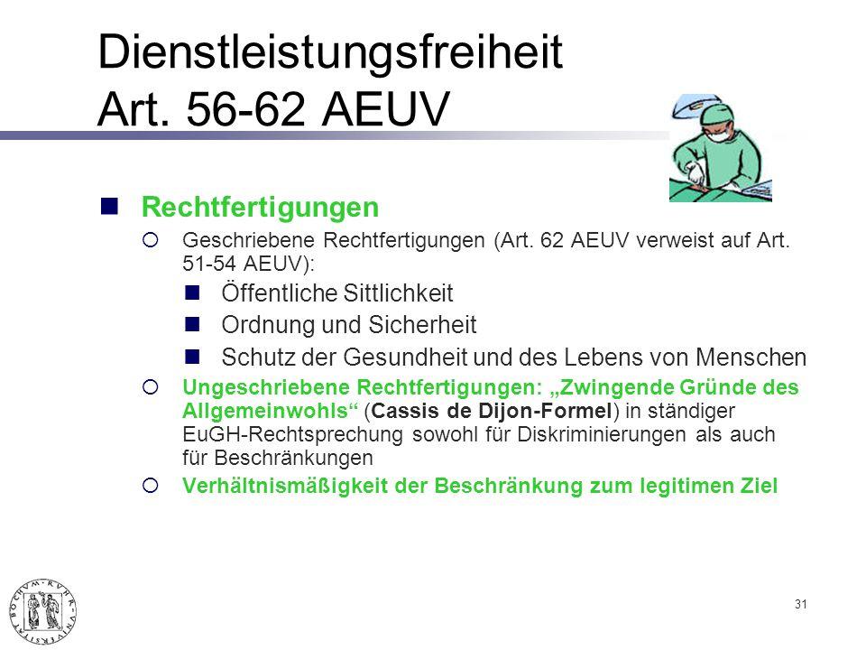 Dienstleistungsfreiheit Art. 56-62 AEUV