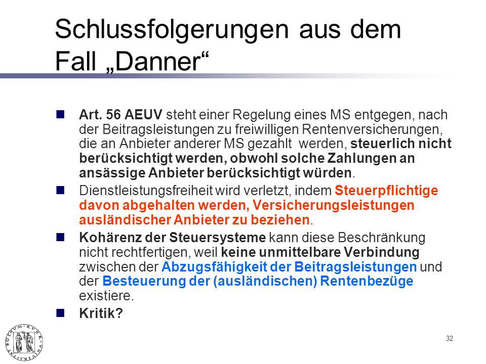 """Schlussfolgerungen aus dem Fall """"Danner"""