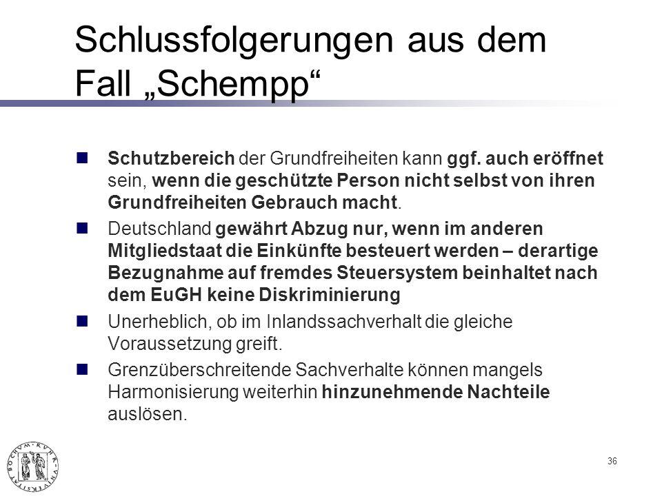 """Schlussfolgerungen aus dem Fall """"Schempp"""