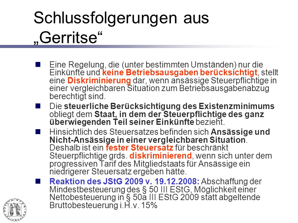 "Schlussfolgerungen aus ""Gerritse"