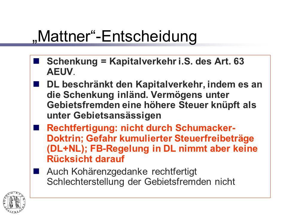 """Mattner -Entscheidung"