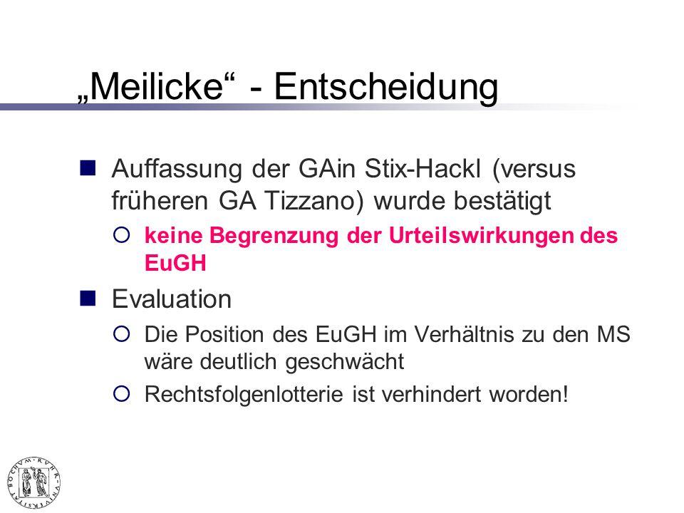 """""""Meilicke - Entscheidung"""