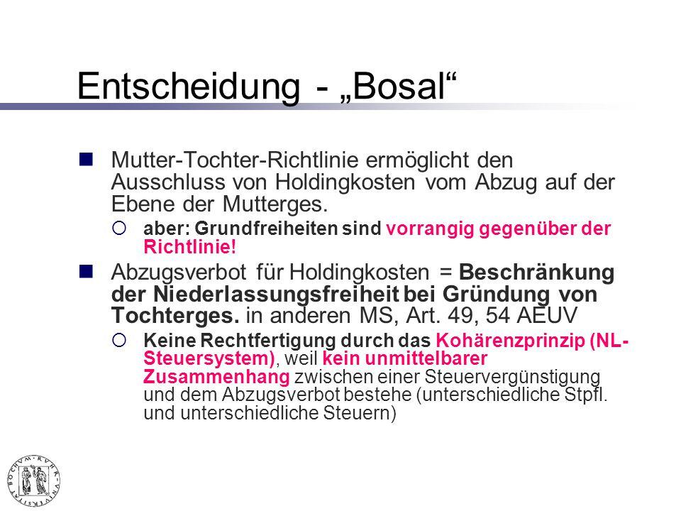 """Entscheidung - """"Bosal"""